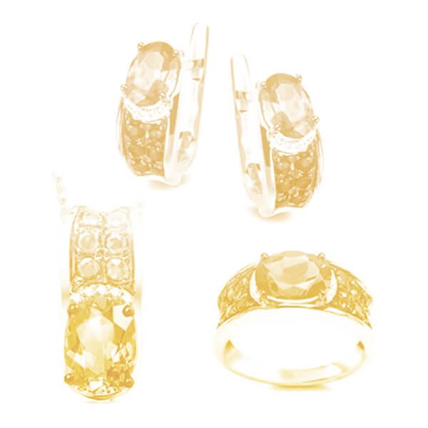 Komplety biżuterii złotej z brylantami (pr.585)
