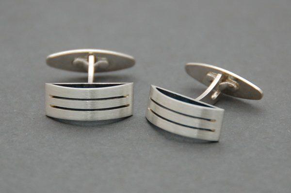 Spinki srebrne pr. 925