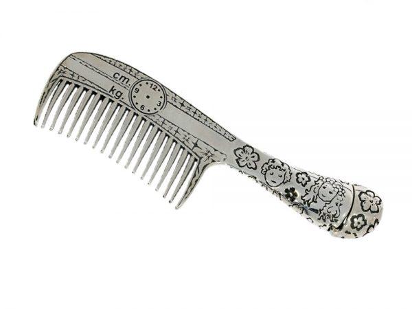 Grzebień srebrny pr.925