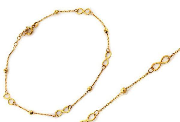 Bransoletka złoto r.585
