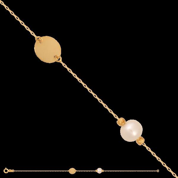 Bransoletka złota z perełą