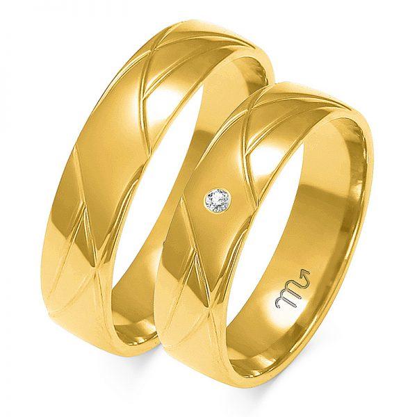 Obrączki złote pr.585