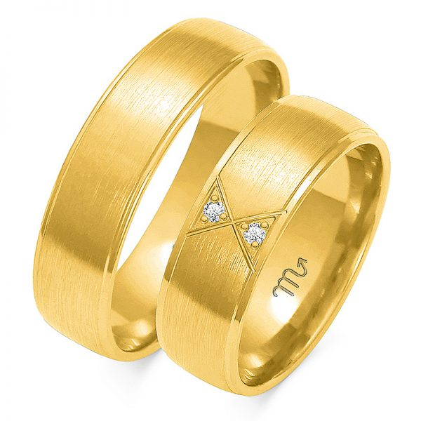 Obrączki wykonane ze złota pr.585.