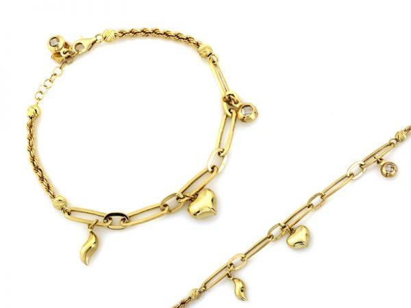bransoletka, złoto pr.585