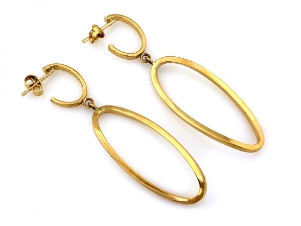 kolczyki, złoto pr.585