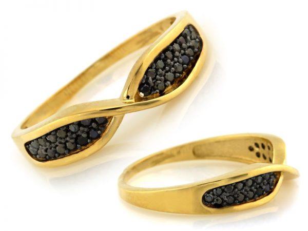 pierścionek złoty, pr.585